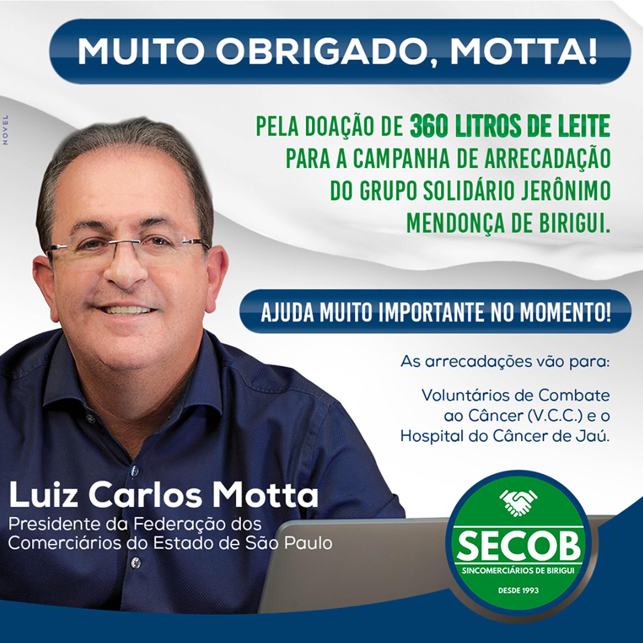 Presidente da Federação dos Comerciários doa 360 litros de leite em campanha de arrecadação